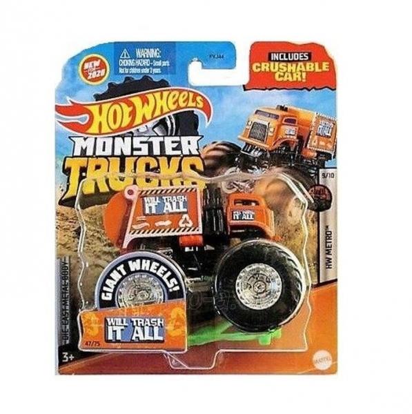 Automobiliukas FYJ44 / GJD81 Hot Wheels Monster Trucks 1:64 Scale Die-Cast Assortment with Giant Wheels Paveikslėlis 1 iš 1 310820230644