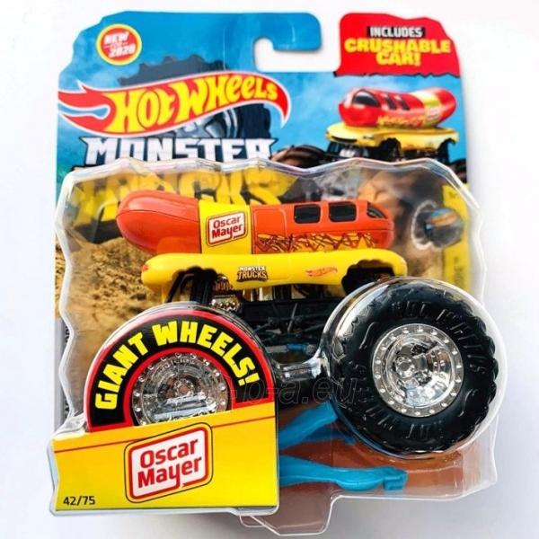 Automobiliukas FYJ44 / GJD82 Hot Wheels Monster Trucks 1:64 Scale Die-Cast Assortment with Giant Wheels Paveikslėlis 1 iš 1 310820230646