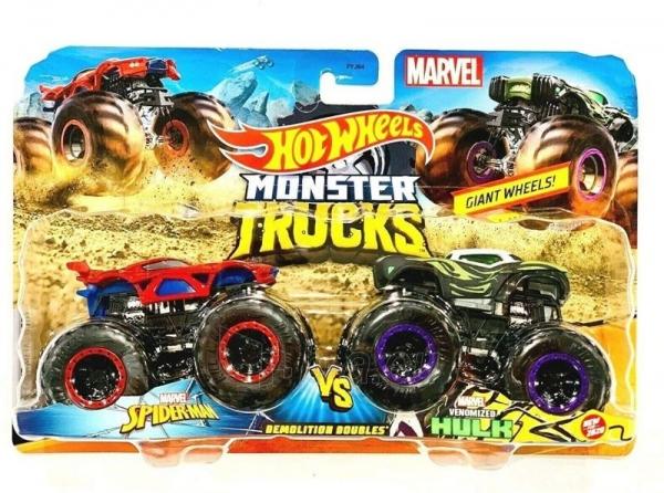 Automobiliukas FYJ64 / GMR38 Hot wheels Monster Trucks Marvel Heroes Spider Man vs Venomized-Hulk Paveikslėlis 1 iš 1 310820230675