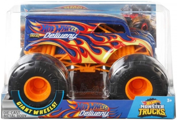 Automobiliukas FYJ83 / GCX23 Hot Wheels Monster Trucks Dairy with Giant Wheels Paveikslėlis 1 iš 3 310820230678