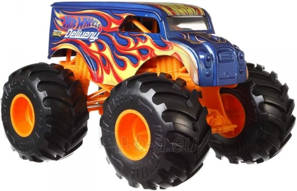 Automobiliukas FYJ83 / GCX23 Hot Wheels Monster Trucks Dairy with Giant Wheels Paveikslėlis 2 iš 3 310820230678