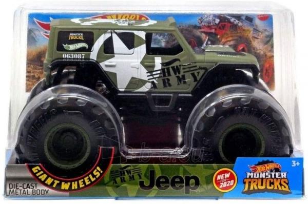 Automobiliukas FYJ83 / GJG71 Hot Wheels Monster Trucks - HW Army Jeep Paveikslėlis 1 iš 2 310820230676