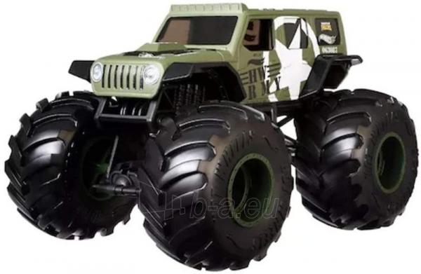 Automobiliukas FYJ83 / GJG71 Hot Wheels Monster Trucks - HW Army Jeep Paveikslėlis 2 iš 2 310820230676