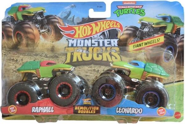 Automobiliukas GJF65 / FYJ64 Hot Wheels Monster Trucks Raphael VS Leonardo Paveikslėlis 1 iš 1 310820230673