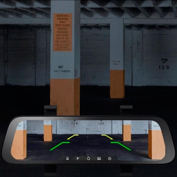 Autoregistratorius Xiaomi 70mai Rearview Dash Cam Wide (Midrive D07) Paveikslėlis 6 iš 9 310820225905