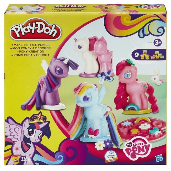 B0009 plastilinas su poniais Play-Doh HASBRO Paveikslėlis 1 iš 2 310820050502