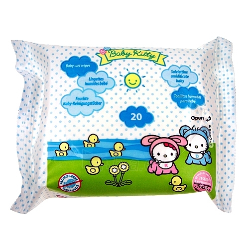 Baby Kitty Cleansing Wipes Cosmetic 20 vnt. Paveikslėlis 1 iš 1 30024900075