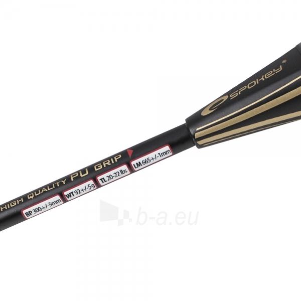 Badmintono raketė TOMAHAWK juoda Paveikslėlis 3 iš 9 30073700004
