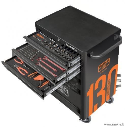 """BAHCO 1470K6BKFFC7 įrankių spintelė - vežimėlis su 215 vnt. įrankių 26""""-6 STALČIAI Paveikslėlis 1 iš 3 310820050011"""