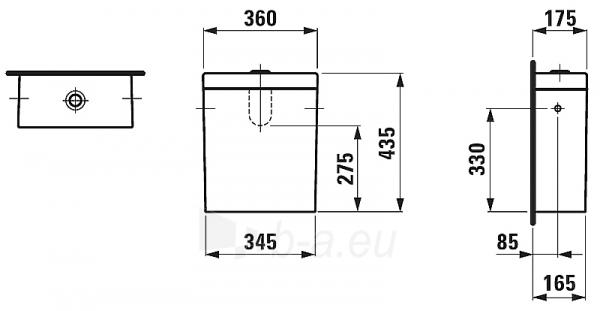 """tank wc """"Palomba"""" Paveikslėlis 3 iš 4 270713000288"""
