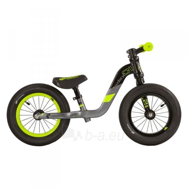 Balansinis dviratukas Scool pedeX 1- black/yellow matt 12 Paveikslėlis 1 iš 2 310820137922