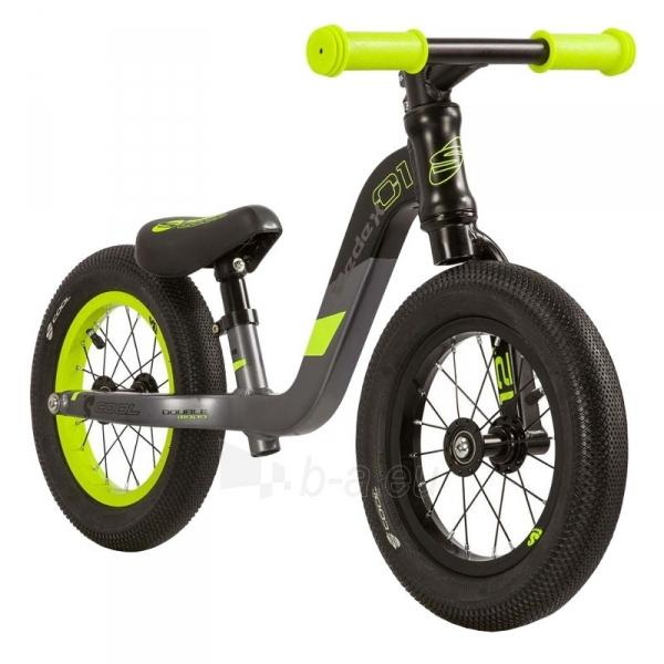 Balansinis dviratukas Scool pedeX 1- black/yellow matt 12 Paveikslėlis 2 iš 2 310820137922
