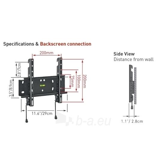BARKAN E20.B 37'' LCD, fiksuotas, sieninis, juodas Paveikslėlis 2 iš 3 250226200229