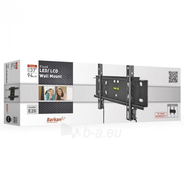 BARKAN E20.B 37'' LCD, fiksuotas, sieninis, juodas Paveikslėlis 3 iš 3 250226200229