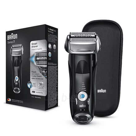Barzdaskutė Braun Series 7 Shaver 7842s Wet use, Rechargeable, Charging time 1 h, Li-Ion, Battery powered, Number of shaver heads/blades 1, Black Paveikslėlis 1 iš 3 310820223229