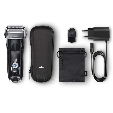 Barzdaskutė Braun Series 7 Shaver 7842s Wet use, Rechargeable, Charging time 1 h, Li-Ion, Battery powered, Number of shaver heads/blades 1, Black Paveikslėlis 2 iš 3 310820223229