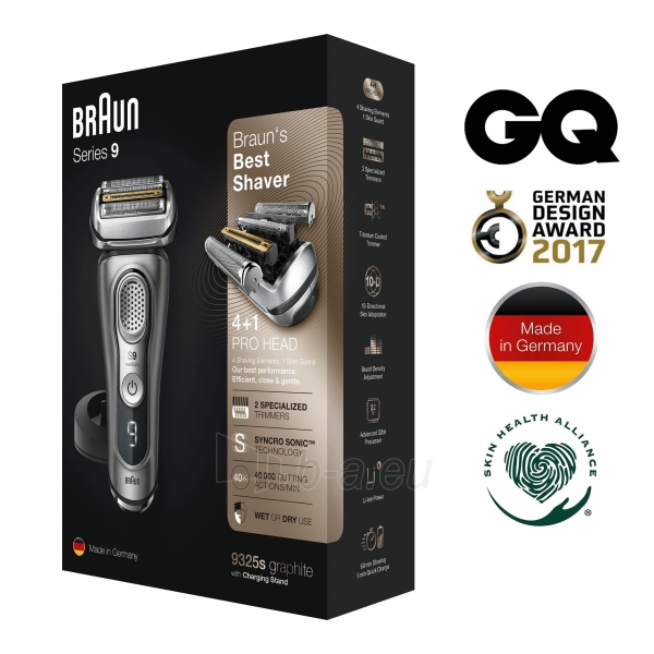 Barzdaskutė Braun Series 9 9325s graphite Paveikslėlis 10 iš 10 310820207214