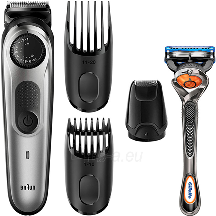 Barzdaskutė Braun Trimmer with Gillette Razor BT5065 Cordless, Number of length steps 39, Silver Paveikslėlis 1 iš 1 310820223938