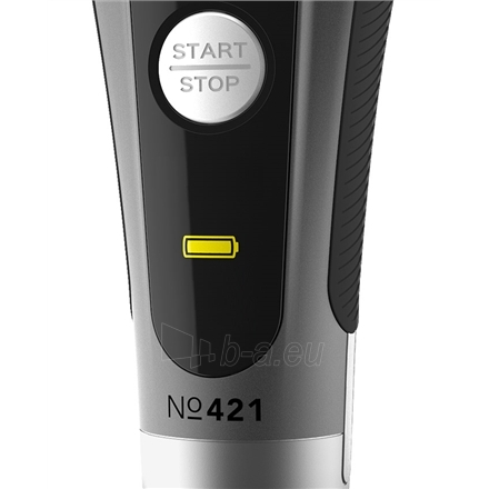 Barzdaskutė Carrera Men Shaver 421 Wet use, Rechargeable, Charging time 1,5 h, Lithium- ion, Battery life 1 h, Battery powered or powerplug, Number of shaver heads/blades 3, Grey/ black Paveikslėlis 4 iš 4 310820115715