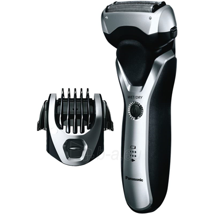 Barzdaskutė Panasonic Shaver ES-RT47-H503 Charging time 1 h, Lithium Ion, Number of shaver heads/blades 3, Black/Silver, Wet & Dry Paveikslėlis 2 iš 3 310820223937