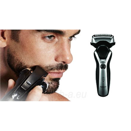 Barzdaskutė Panasonic Shaver ES-RT47-H503 Charging time 1 h, Lithium Ion, Number of shaver heads/blades 3, Black/Silver, Wet & Dry Paveikslėlis 3 iš 3 310820223937