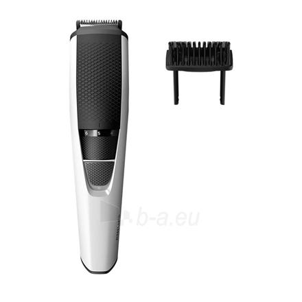 Barzdaskutė Philips Beard Trimmer BT3206/14 Cordless, Step precise 0.5 mm, 10 lock-in length settings, Black/Silver Paveikslėlis 1 iš 4 310820224443