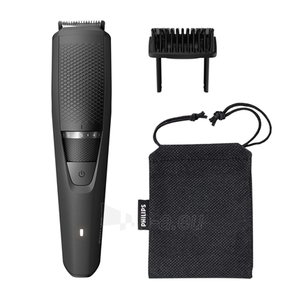 Shaver Philips Beard Trimmer BT3226/14 Cordless or corded, Step precise 0.5 mm, 20 lock-in length settings, Black Paveikslėlis 1 iš 3 310820223940