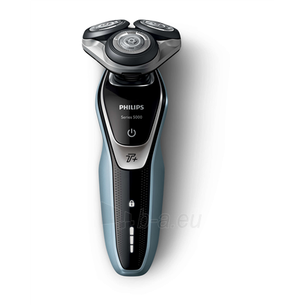 Barzdaskutė Philips Shaver S5530/06 Charging time 1 h, Operating time 50 min, Wet use, Lithium-ion, Number of shaver heads/blades 3, Black/Blue, Cord or Cordless Paveikslėlis 2 iš 3 310820222346
