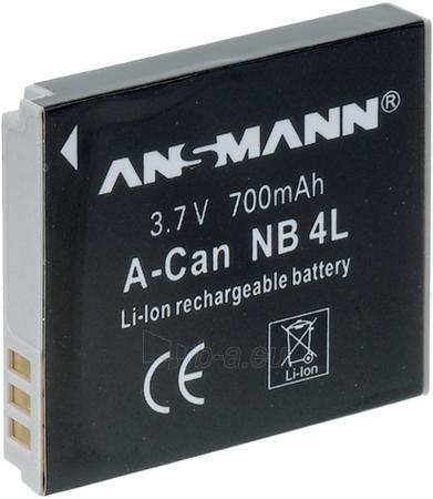 Baterija Ansmann NB-4L A-Can Paveikslėlis 1 iš 1 250222040601904