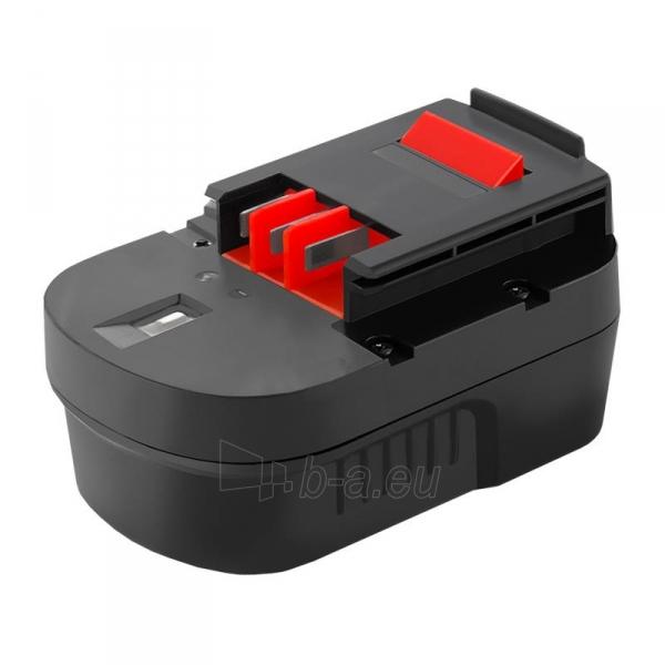 Baterija Qoltec Power tools battery for Black&Decker A14 | 3000mAh | 14.4V Paveikslėlis 1 iš 1 310820103247