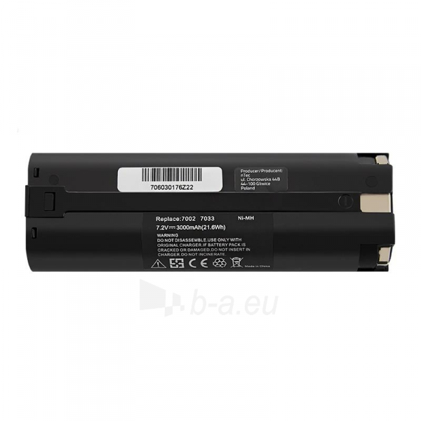 Baterija Qoltec Power tools battery for Makita 7000 7001 7033 | 3000mAh | 7.2V Paveikslėlis 2 iš 2 310820103263