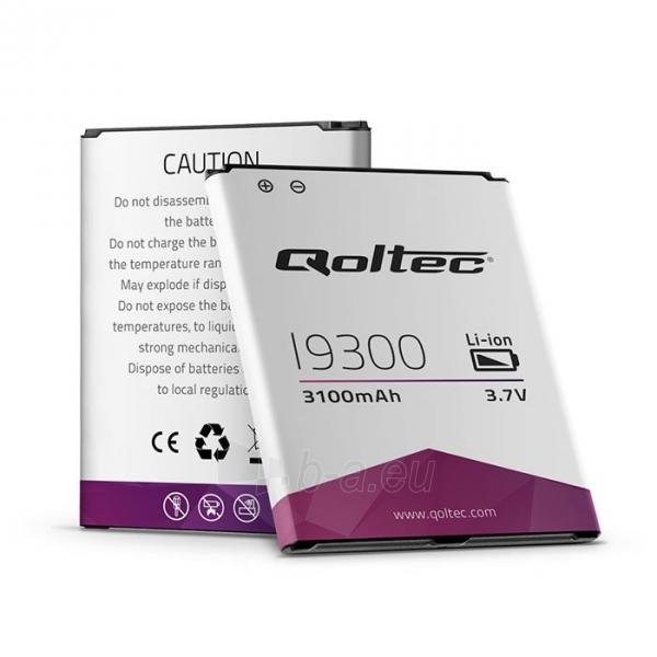 Baterija Qoltec skirta  Samsung Galaxy SIII I9300, 3100mAh Paveikslėlis 1 iš 2 250232002512