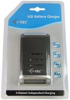 Baterijų įkroviklis i-tec su LCD, 4 vietos Paveikslėlis 3 iš 3 250256600362