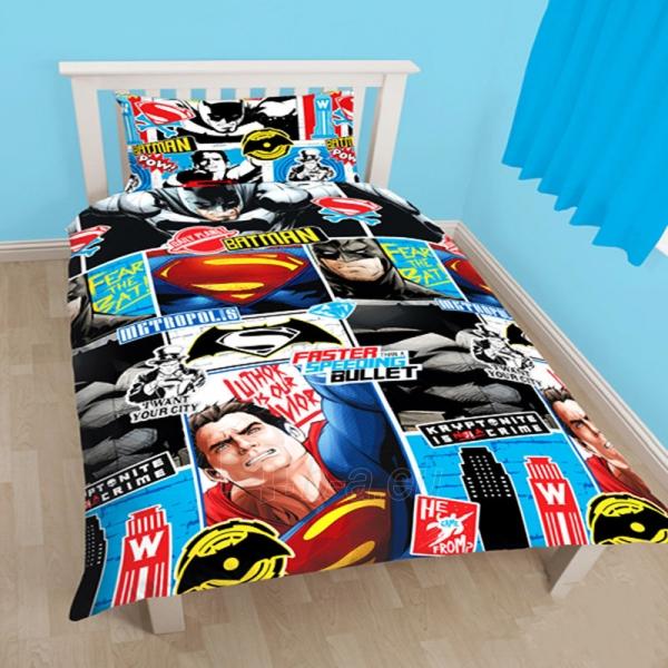 Batman ir Superman dvipusės patalynės komplektas Paveikslėlis 1 iš 3 30115700945