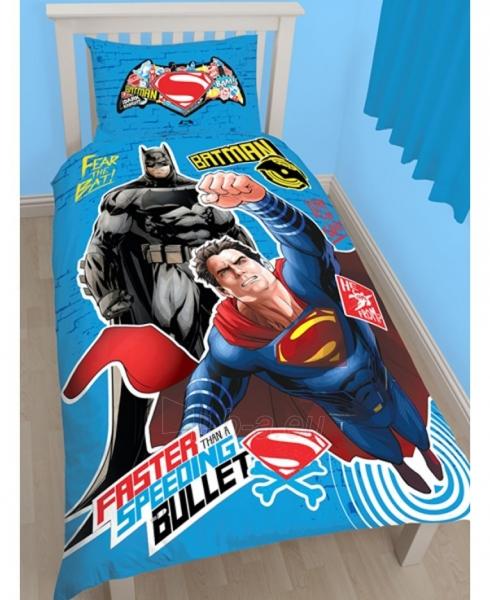 Batman ir Superman dvipusės viengulės patalynės komplektas Paveikslėlis 1 iš 3 310820014660