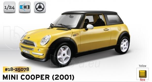 Bburago MINI COOPER (2001) 1:24 Kit Bburago 18-25078 Paveikslėlis 1 iš 1 250710800146