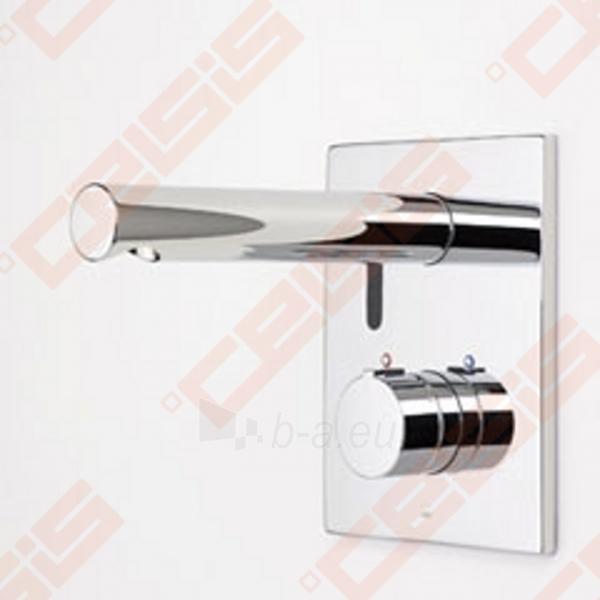 Bekontaktinio sienoje montuojamo termostatinio praustuvo maišytuvo su rankenėlėje įtaisytu temperatūros ribotuvu išorinė dekoratyvinė dalis ORAS Electra Paveikslėlis 2 iš 4 270721000549