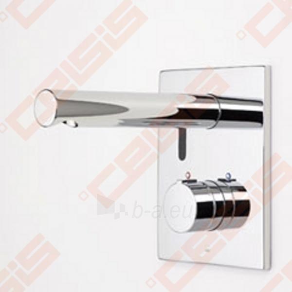Bekontaktinio sienoje montuojamo termostatinio praustuvo maišytuvo su rankenėlėje įtaisytu temperatūros ribotuvu išorinė dekoratyvinė dalis ORAS Electra Paveikslėlis 1 iš 4 270721000549