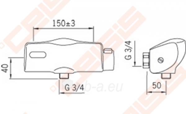 Bekontaktinis dušo maišytuvas ORAS Electra Paveikslėlis 5 iš 6 270721000550