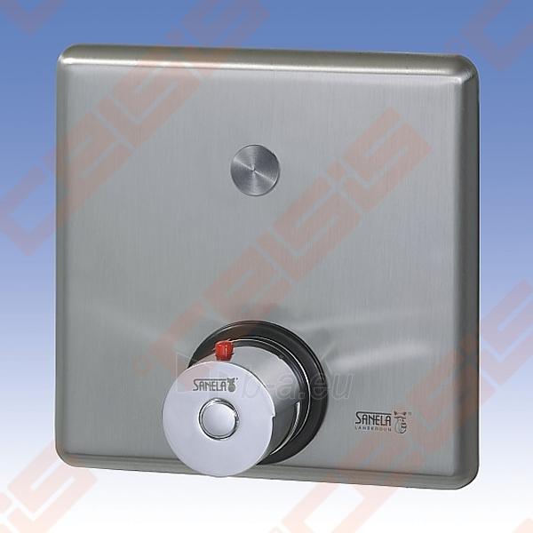 Bekontaktis potinkinio dušo maišytuvas SANELA su piezo sistema ir termostatine temperatūros reguliavimo rankenėle, 24V Paveikslėlis 2 iš 2 270721000552