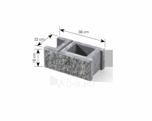 Betoninis tvoros pamūros blokelis A-1 (pilka -smėlio) Paveikslėlis 2 iš 5 310820022761