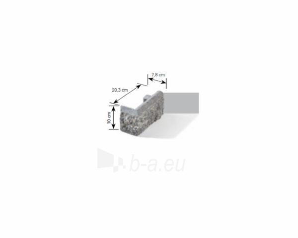 Betoninis tvoros stulpo elementas Matas L (pilkai-smėlinis) Paveikslėlis 6 iš 8 239320100022
