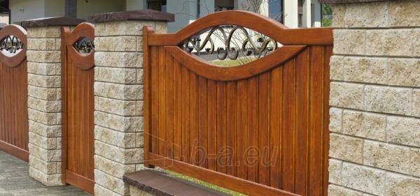 Betoninis tvoros stulpo elementas Matas L (grafitinis) Paveikslėlis 3 iš 6 239320100023