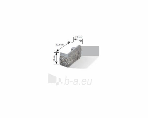 Betoninis tvoros stulpo elementas Matas L (grafitinis) Paveikslėlis 4 iš 6 239320100023