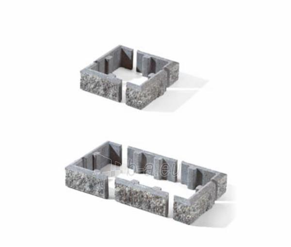 Betoninis tvoros stulpo elementas Matas L (grafitinis) Paveikslėlis 5 iš 6 239320100023