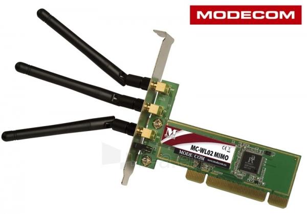 Bevielė tinklo plokštė MODECOM PCI  MC-WL02 Paveikslėlis 2 iš 2 250257100677