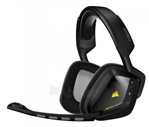 Bevielės žaidimo ausinės Corsair VOID 7.1, RGB lighting, CUE control - juodos Paveikslėlis 2 iš 4 250255091219