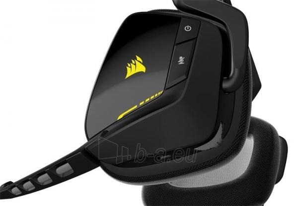 Bevielės žaidimo ausinės Corsair VOID 7.1, RGB lighting, CUE control - juodos Paveikslėlis 3 iš 4 250255091219