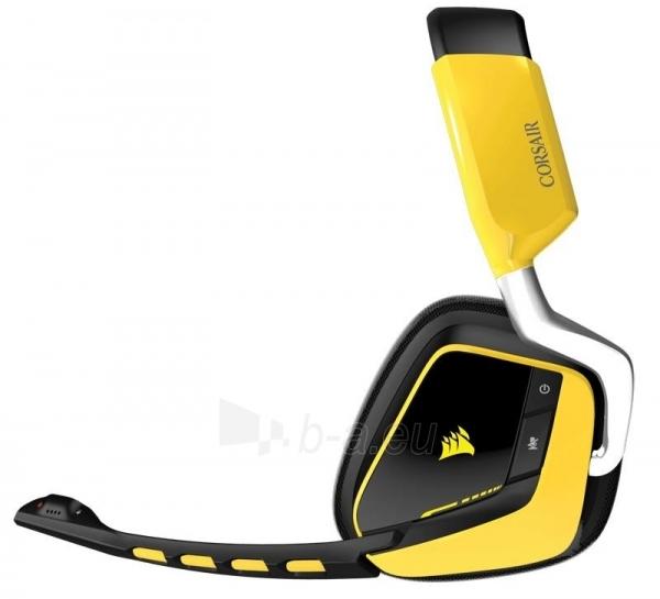 Bevielės žaidimo ausinės Corsair VOID 7.1, SE,RGB lighting, reciver dock - juod. Paveikslėlis 3 iš 4 250255091241