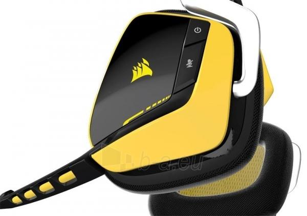 Bevielės žaidimo ausinės Corsair VOID 7.1, SE,RGB lighting, reciver dock - juod. Paveikslėlis 4 iš 4 250255091241